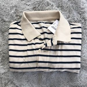 "NWT | J Crew Men's Striped ""Pique"" Polo"